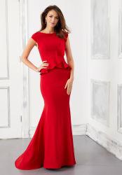 اللباس حورية البحر الأحمر العروس حورية البحر تافيتا الطرف في المساء اللباس
