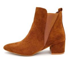 Bruine Laarzen van Cecil van de Gang van de Hiel van de In het groot Vrouwen van China de Comfortabele Dikke Gemakkelijke