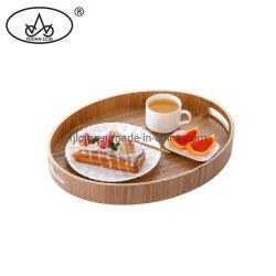 Ovales Holz Porzellan Tischdecke Hotel Set Geschenkhalter Holz Serviertablett mit 3pcs