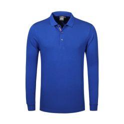 Mens-kundenspezifische Stickerei-Firmenzeichen-lange Hülsen-beiläufiges Sitz-Polo-T-Shirt