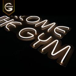 Logotipo personalizado 3D grande barra flexible de LED Neon cerveza firmar cartas
