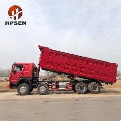 Sino camioneta 8X4 35cbm camión volquete hidráulico de elevación frontal 12.700 Peso bruto vehicular