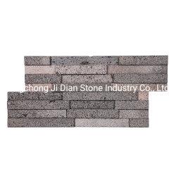 Lava Natural Revestimiento de pared de piedra de los paneles de chapa de madera repisa apiladas