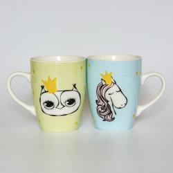 11oz el cambio de color caliente tazas de cerámica con la magia de sublimación