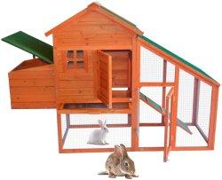 도매 목재로 된 Rabbit House Chicken Coop과 함께 하는 모든 것이 있습니다 동물 PET용 트레이 가금류 케이지를 실행하고 꺼냅니다 제품