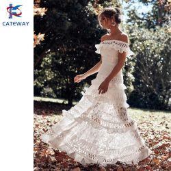 도매 여름 패션 웨딩 드레스 파티 드레스 칵테일 드레스 레이스 여성/여성용 크로셰 맥시 드레스
