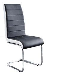 Hogar moderno mobiliario de oficina de cuero de PU de metal en cromo Silla de Comedor de ocio para Salón