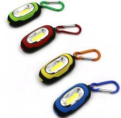 Mini torcia LED portatile COB portachiavi LED luce di lavoro