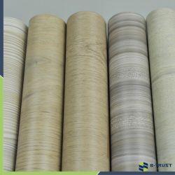 Film PVC du grain du bois pour meubles/vide porte Press/membrane/planchers