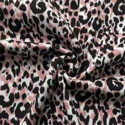 Yigao Textile 100% Rayon Crepe プリントファブリック Leopard プリント対象 ウィメンズガーメントドレス