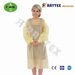 Kit non tessuto lavorato a maglia del PPE del vestiario di protezione dell'abito di isolamento dei polsini pp