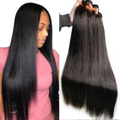 Commerce de gros ensembles de cheveux russe de la Chine perruque de cheveux droites péruvien Remy Tissage de cheveux brésiliens à bon marché de la trame 100% naturel vierge pure Extension de cheveux humains