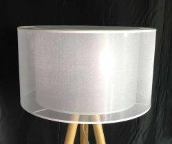 Moderner zwei Schicht-weißer Organza-Lampenschirm für Anhänger oder Fußboden-Lampe