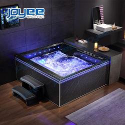 Joyee New Corner Acrylic 2 3인용 욕실 Hydro Bubble 마사지 대형 월풀 욕조 스파 자쿠지 실내 욕조