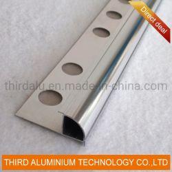La Chine Cuisine décoratifs White Silver Standard en aluminium perforé Tile Edge garniture d'angle profil pour la céramique ou Bande LED