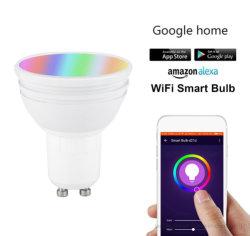 أضواء ذكية LED داخلية ضوء LED ضوء رباعي واط MR16 RGB+CCT LED ضوء كشاف مع Smart Phone App Control 2700-6500K