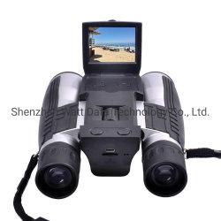 """Binoculares Telescopio Digital de la cámara la cámara, pantalla LCD 2"""" de 12x32 Prismáticos digitales Prisma plegable con cámara de vídeo excelente para la observación de aves Juegos de deportes al aire libre"""