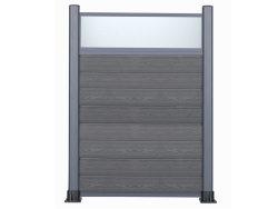 Holz Kunststoff Composite WPC Holz Aluminium Profile Pulver konierte Zäune Leiste Platine Pfosten Panel