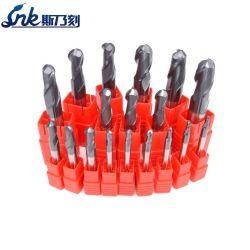 Solid Carbide 2f Outil de découpe de nez à bille en acier inoxydable SUS