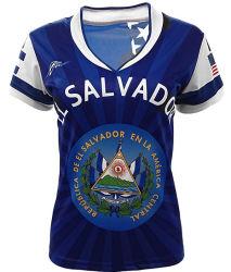 Het aangepaste Eenvormige Ontwerp van het Voetbal van de Vrouwen van de Douane van Wholesales van het Overhemd van de Voetbal van Jerseys van het Voetbal van de Sublimatie van de Jeugd Goedkope