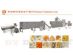 ダブルスクリューフライドパフボールクリスピービューグルチップコア充填メイズフルーア小型コーンパフ食品スナックエクストルーダーマシン