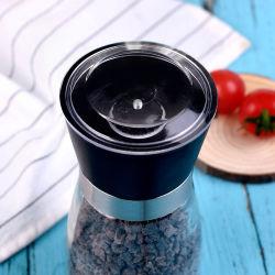 Épices moulues/verre Spice pot avec une meuleuse en céramique