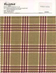 Fancy Poly tejido de lana, Bird comprobar el diseño, el fondo de color marrón con controles de color púrpura