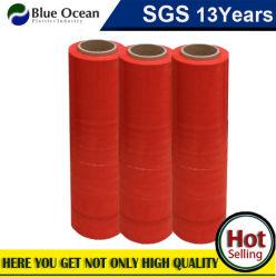 Pellicola di stirata di plastica del PE LLDPE dell'involucro rosso del pallet di Castingr