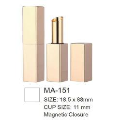 De magnetische Verpakking van de Container van de Buis van het Geval van de Lippenstift van het Aluminium van de Sluiting Vierkante Lege Slanke