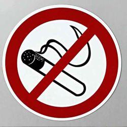 알루미늄 금연 교통 도로 경고 표지