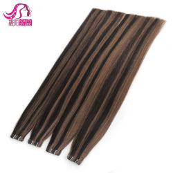 Estensione di trama 100% dei capelli del nastro della pelle dei capelli di Remy di prezzi all'ingrosso della fabbrica dei capelli di Xuchang
