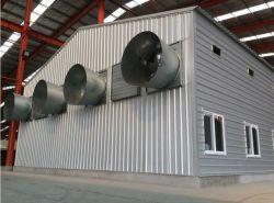 普及した電流を通されたプレハブの鉄骨構造の養鶏場のニワトリ小屋