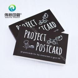 Impressão de cartão postal de cores personalizadas