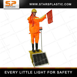 태양열 교통 가짜 경찰 가이드 도로 안전을 위한 로봇