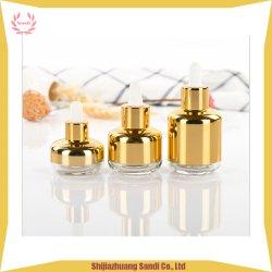 Huile essentielle e liquide argenté Gold-Plating 10ml 20ml 30ml en verre flacon compte-gouttes cosmétique