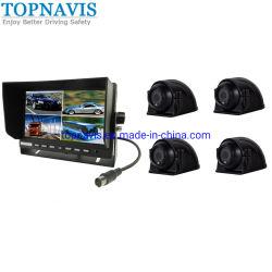 7인치 쿼드 LCD 모니터를 갖춘 버스 CCTV 카메라 시스템