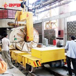 China-Fabrik motorisierte Industrie-Übergangselektrischer Stahl-Ring-Übergangskarre auf Schienen