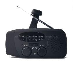 Чрезвычайной помощи в случае стихийных бедствий FM радио AM с USB-Динамо и кривошип и аккумулятор солнечной энергии с помощью фонарика