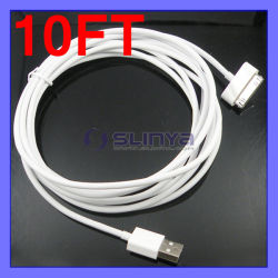3m 10ft 30pin Long USB Data Synchronisierung Charger Cable für iPhone 4 iPad 4s