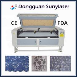 Industrie du vêtement Double tête Laser Texitle Cutter 1600 * 1000mm 80W