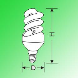 Volledige spiraalverdilding CFL (21 W)