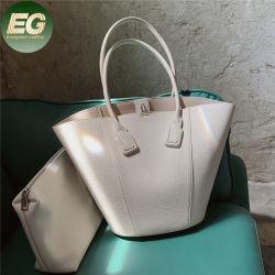 Emg6265 상단 손잡이 여자 작은 주머니 주문 운반물 실제적인 가죽 물통 부대를 가진 연약한 형식 어깨에 매는 가방