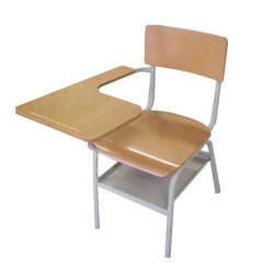 كرسي ذراع أثاث مدرسة الصلب الخشبية مع لوحة كتابة (SCSA-2)