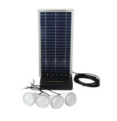 Mini sistema de energía solar para iluminar las habitaciones al mismo tiempo