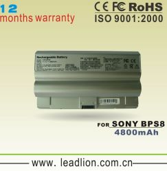 Replacement Laptop Battery for Sony Bps8 Notebook