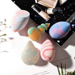 De zachtste Marmeren Schoonheid van het niet-Latex van het Poederdonsje van de Spons van de Make-up van de Kleur maakt omhoog Spons