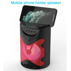 Titular Wholesales personalizada de fábrica Promoção Subwoofer wireless externo estéreo 3D Surround Mini Alto-falante Bluetooth portátil OEM com Suporte de telemóvel