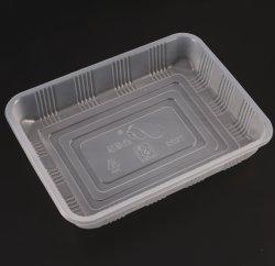 Custom PP descartáveis de plástico branco caixa de embalagem alimento frutas bandeja de embalagens de produtos hortícolas de pepino