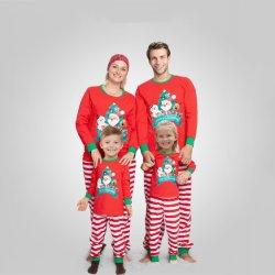 L'automne et hiver Nouveau jeu Noël Cartoon Housewear pyjama imprimé pour les parents et enfants