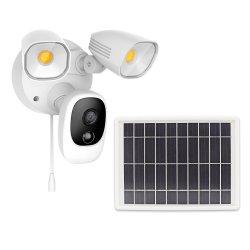 Tuya 1080P senza fili visione notturna a colori 2 vie audio Motion attivato Proiettore a batteria a energia solare telecamera di sicurezza per esterni